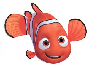 Marlin, an orange cartoon fish from the Disney/Pixar movie Finding Nemo